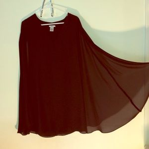 Black Cape Dress NWOT